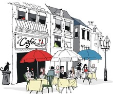 Cafe - duvar posteri cafe A702-004