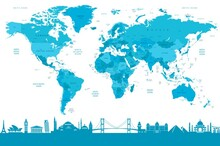 Harita - duvar posteri harita A500-009