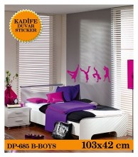 Coart Kadife Çocuk Odası - KADİFE DUVAR STICKER BAD-BOYS 103,8x42,4 CM