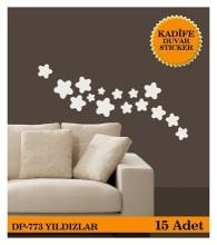 Coart Kadife Large - KADİFE DUVAR STICKER YILDIZLAR 15 ADET