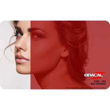 Oracal Transparan - Yapışkanlı Folyo Transparan 033 Kan Kırmızı