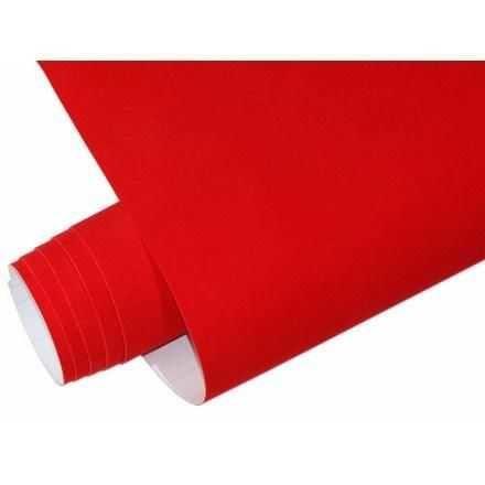 Yapışkanlı Folyo Ucuz Kadife kırmızı 45cmx1mt