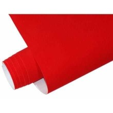 Mykağıtcım Yapışkanlı Folyo - Yapışkanlı Folyo Ucuz Kadife kırmızı 45cmx1mt