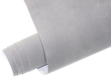 Mykağıtcım Kadife Folyolar - Yapışkanlı Folyo Ucuz Kadife Gri 45cmx1mt